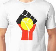 Raised Fist - Aboriginal Flag Unisex T-Shirt