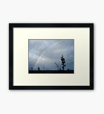 Rainbow over Econfina Creek 12/09 Framed Print