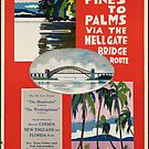 Vintage New York, Canada, Florida Railroad Travel Advertisement Art Posters by jnniepce