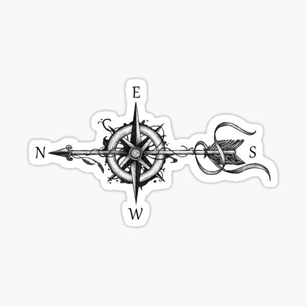 Compass with arrow Sticker