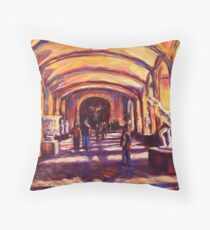 Sculptures in the Louvre Throw Pillow