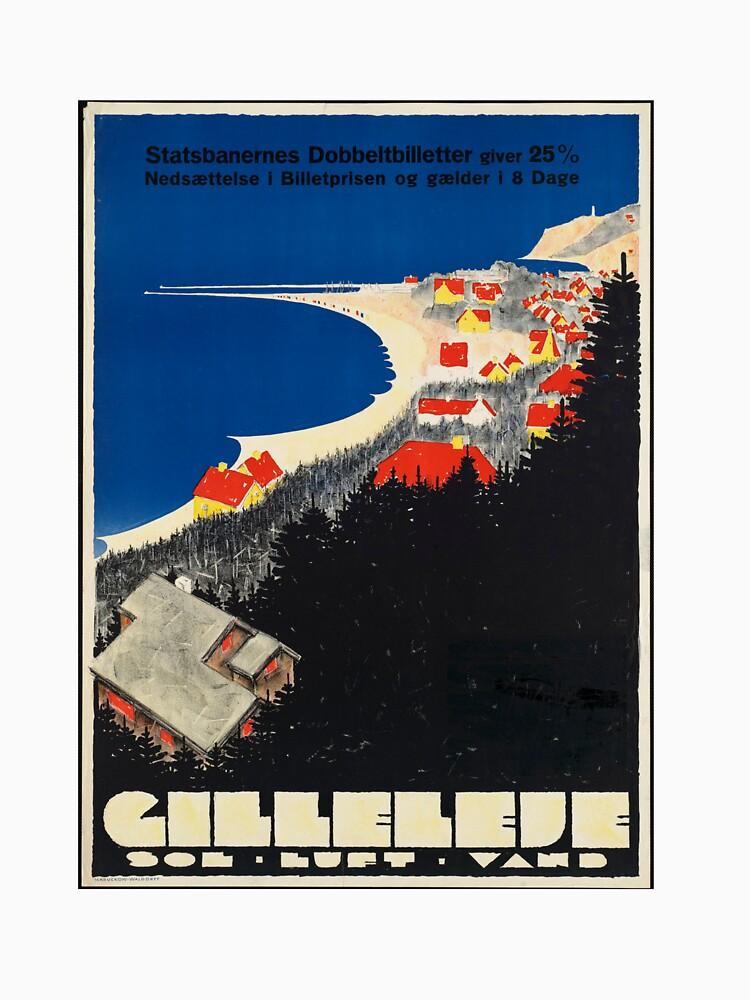 Vintage Gilleleje Denmark Travel Advertisement Art Posters by jnniepce