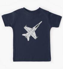 F 18 Hornet Jet Fighter Kids Tee