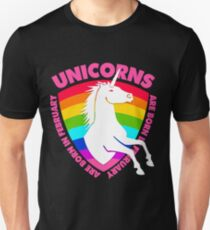 3465ce55 Unicorns are Born in February Girls Birthday Gift for Women Girls Unisex  T-Shirt