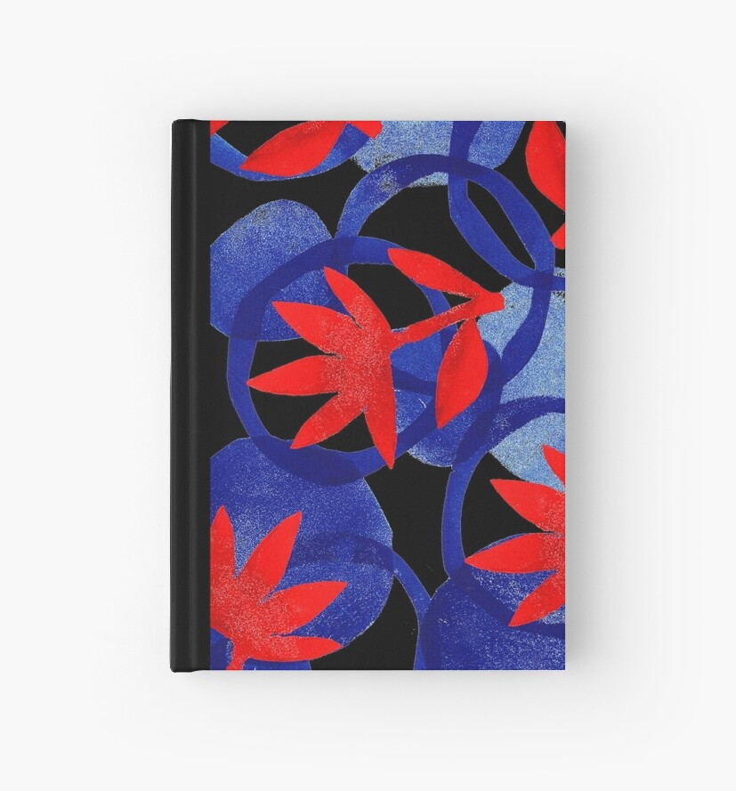 bold and blue with red flowers by mariska eyck