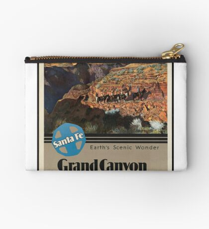 Vintage Grand Canyon National Park Travel Advertisement Art Posters Zipper Pouch