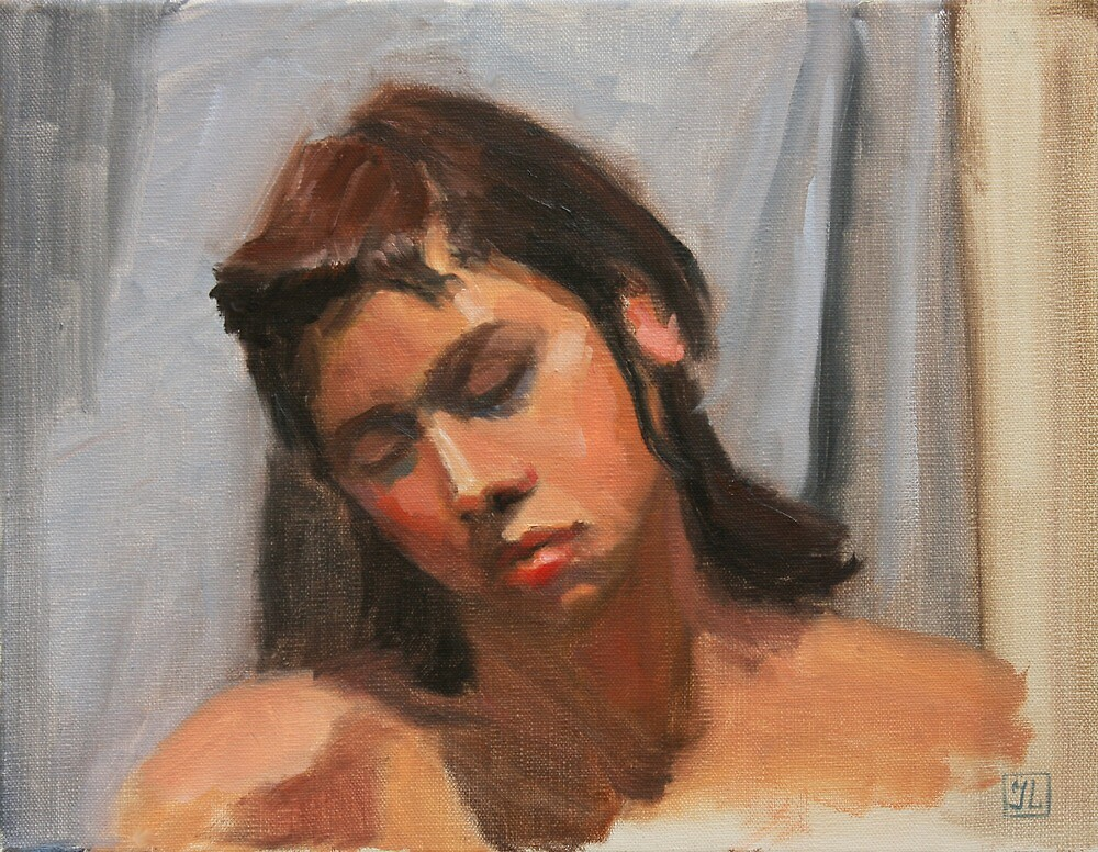Monica Sleeping by Inna Lazarev