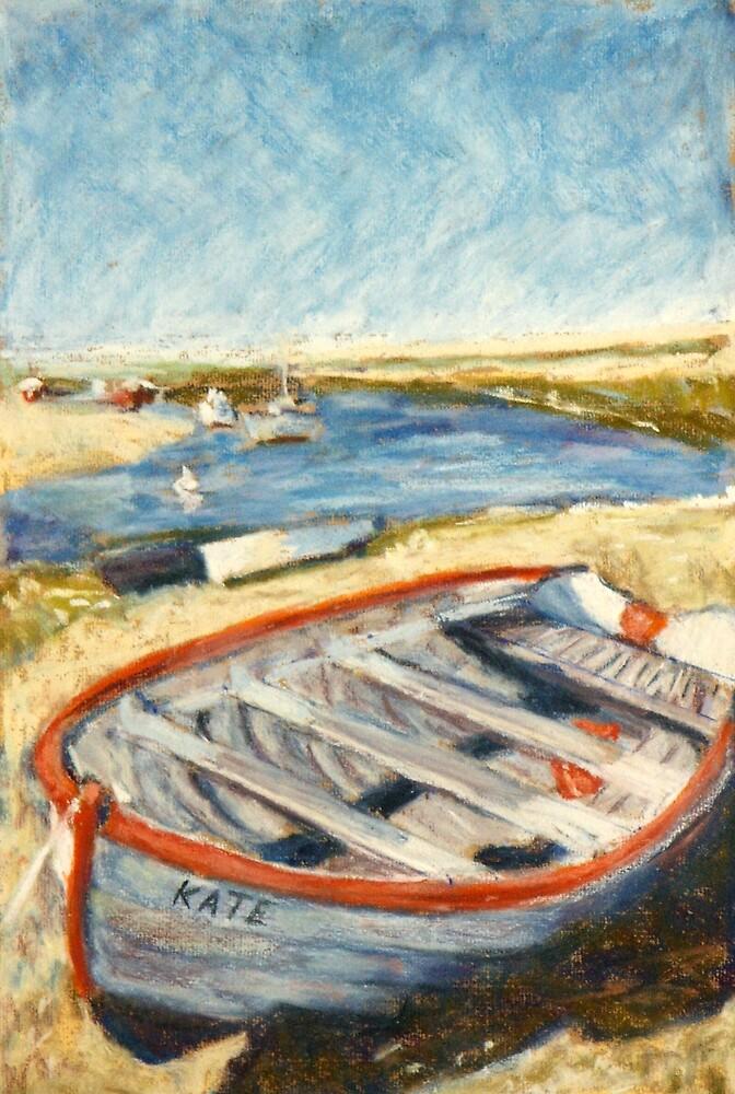 Boat - Burnham Overy Staithe, Norfolk, UK by Judy Adamson