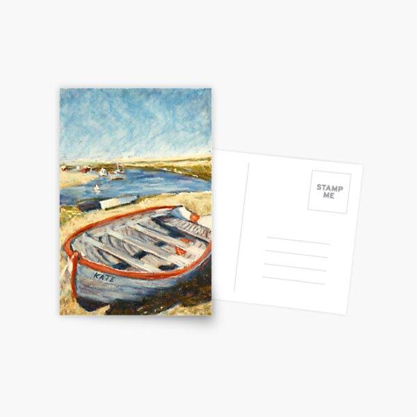 Boat - Burnham Overy Staithe, Norfolk, UK Postcard