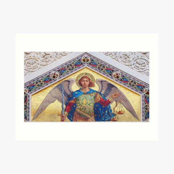 Mosaic of Archangel Michael Art Print