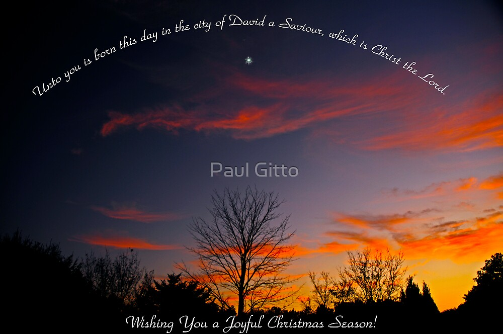 Wishing You a Joyful Christmas Season! by Paul Gitto