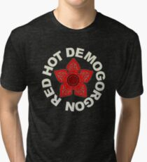 Camiseta de tejido mixto Red Hot Demogorgon
