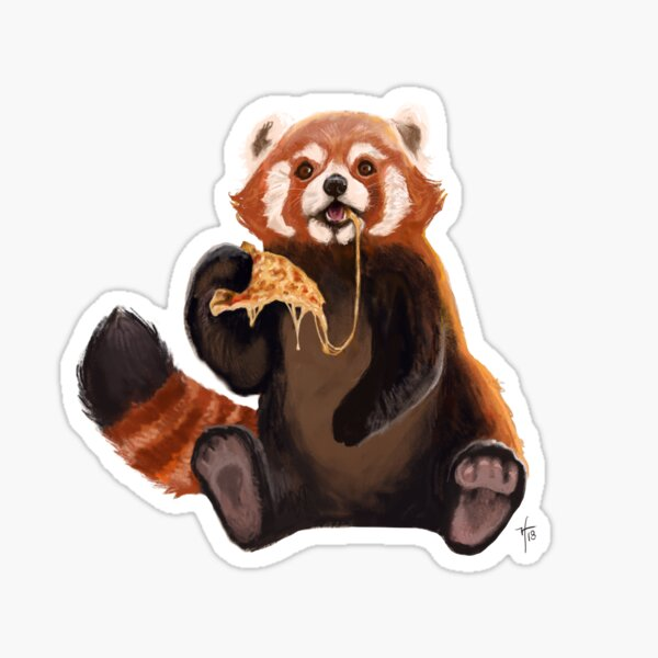 Pizza Panda Sticker