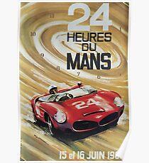 24hs Le Mans, 1963, Vintages Plakat Poster