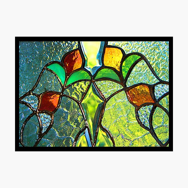 Summer Through Stained Glass Photographic Print