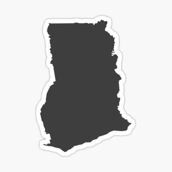 Ghana Love in Charcoal Sticker