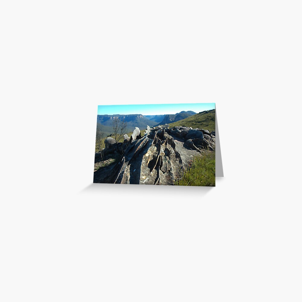 Ironstone formations at Mt Hay - Blue Mountains, NSW Greeting Card