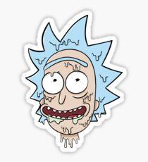 Melted Rick Sticker