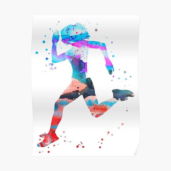 Jogger girl Poster