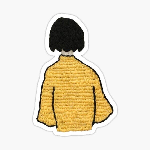 embroidered girl Sticker
