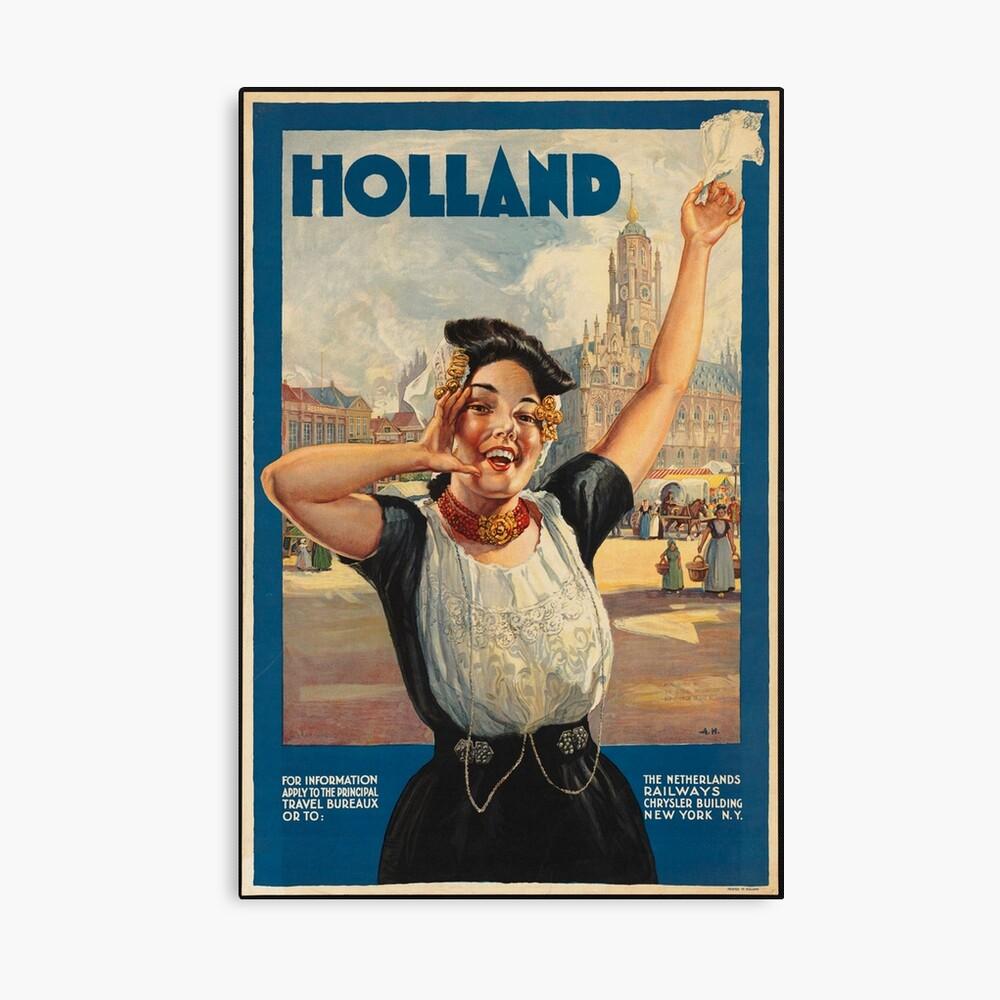 Vintage Holland Travel Advertisement Art Posters Canvas Print