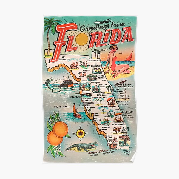 Greetings from Florida Poster