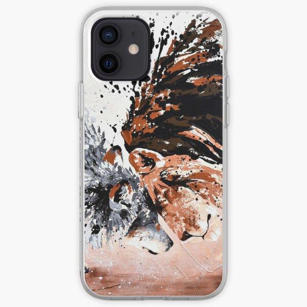 """Loup et lion """"Pacte d'alliance"""" Coque souple iPhone"""