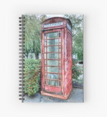 Red Telephone Booth Spiral Notebook