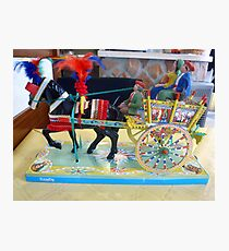 Typical Sicilian Cart Photographic Print