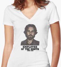 Paul Rudd T-Shirt Tailliertes T-Shirt mit V-Ausschnitt