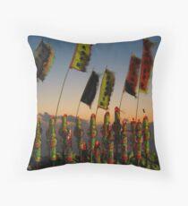 Incence at God's Birthday festival - Christmas Island Throw Pillow