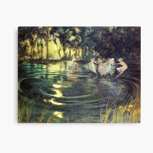Fairies Whirl - Arthur John Black Canvas Print