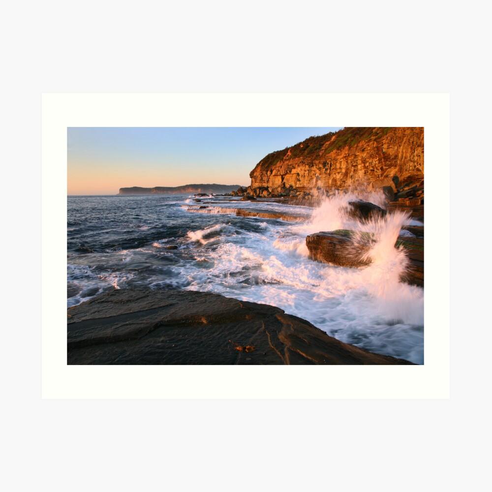 Terrigal Cliffs Assaulted, NSW, Australia Art Print