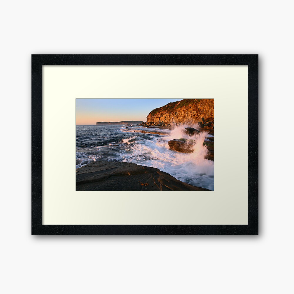 Terrigal Cliffs Assaulted, NSW, Australia Framed Art Print