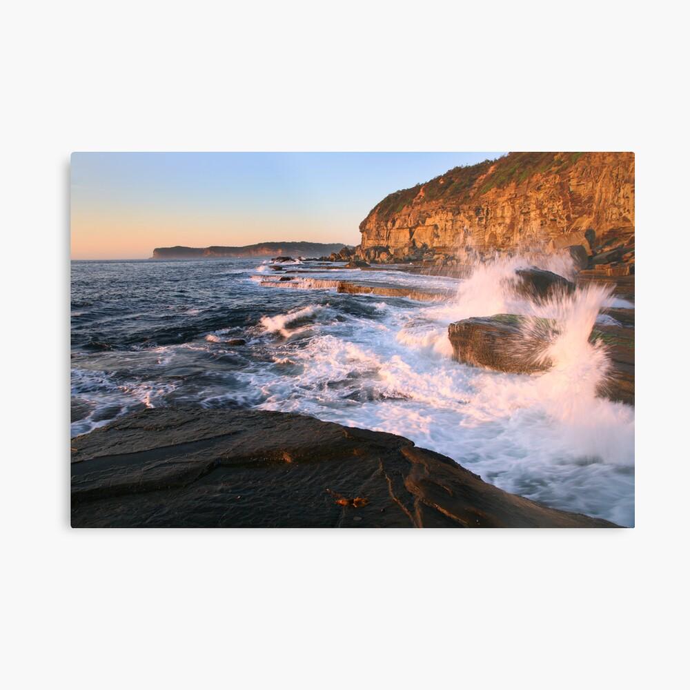 Terrigal Cliffs Assaulted, NSW, Australia Metal Print