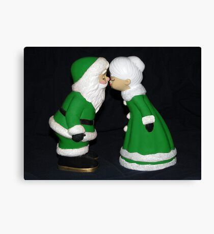 Santa and Mrs. Claus ll Canvas Print