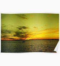 Crayola Sunset Poster