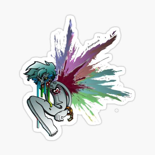Heartcore Rainbow Sticker