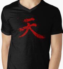 Akuma Kanji Men's V-Neck T-Shirt