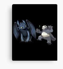 Toothless and Pokemon Canvas Print