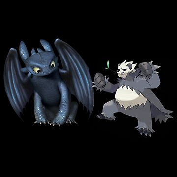 Toothless and Pokemon by ChaneCollect