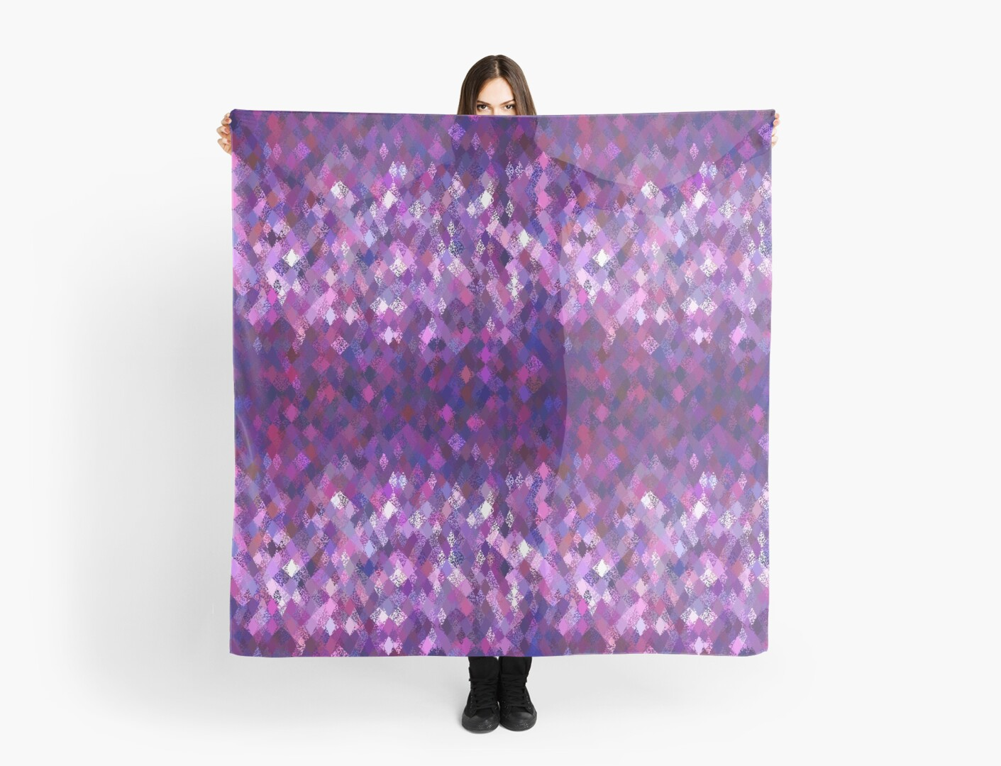 Purple Abstract Harlequin Pattern  by Ra12