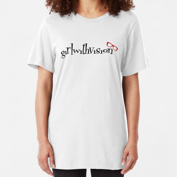 Girl With Vision Slim Fit T-Shirt