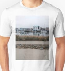 #Walkway, #Stamford, #StamfordCity, #winter, #nature, #snow, #frost, #outdoors, #icee #cold, #wood, #season, #bird, #tree, #frozen, #dry, #garden, #grass, #weather, #horizontal, #colorimage, #nopeople Unisex T-Shirt