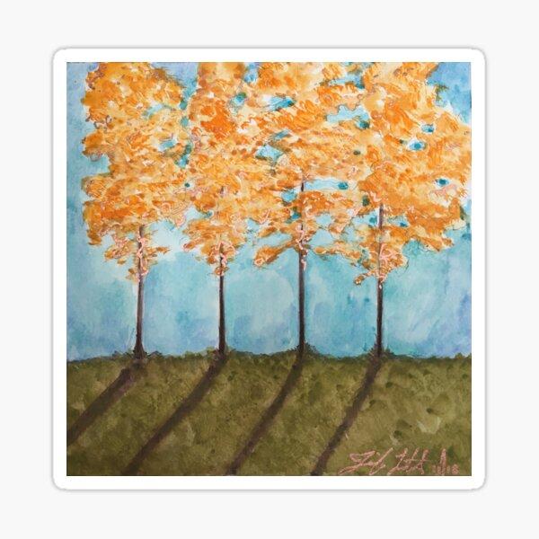 Orange Maples Sticker