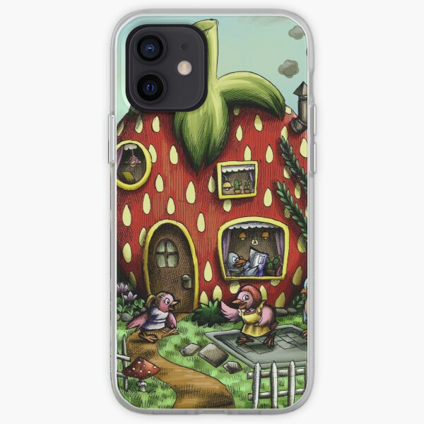 strawberry house iPhone Soft Case