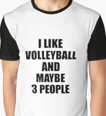 VOLLEYBALL Lover Funny Gift Idea I Like Hobby Graphic T-Shirt