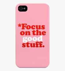 Focus On The Good Stuff {Pink & Red Version} iPhone 4s/4 Case