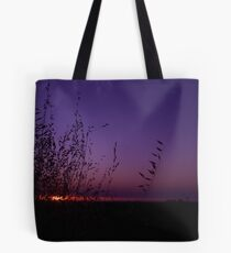 Sunset Through The Grass Tote Bag