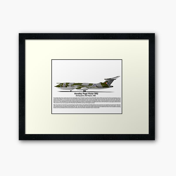 Handley Page Victor SR2 Profile Framed Art Print
